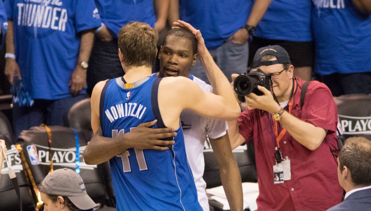 Dirk Nowitzki and Kevin Durant