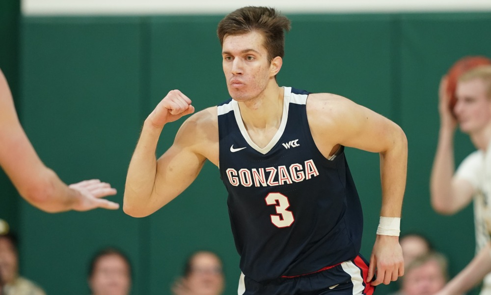 Gonzaga Bulldogs forward Filip Petrusev