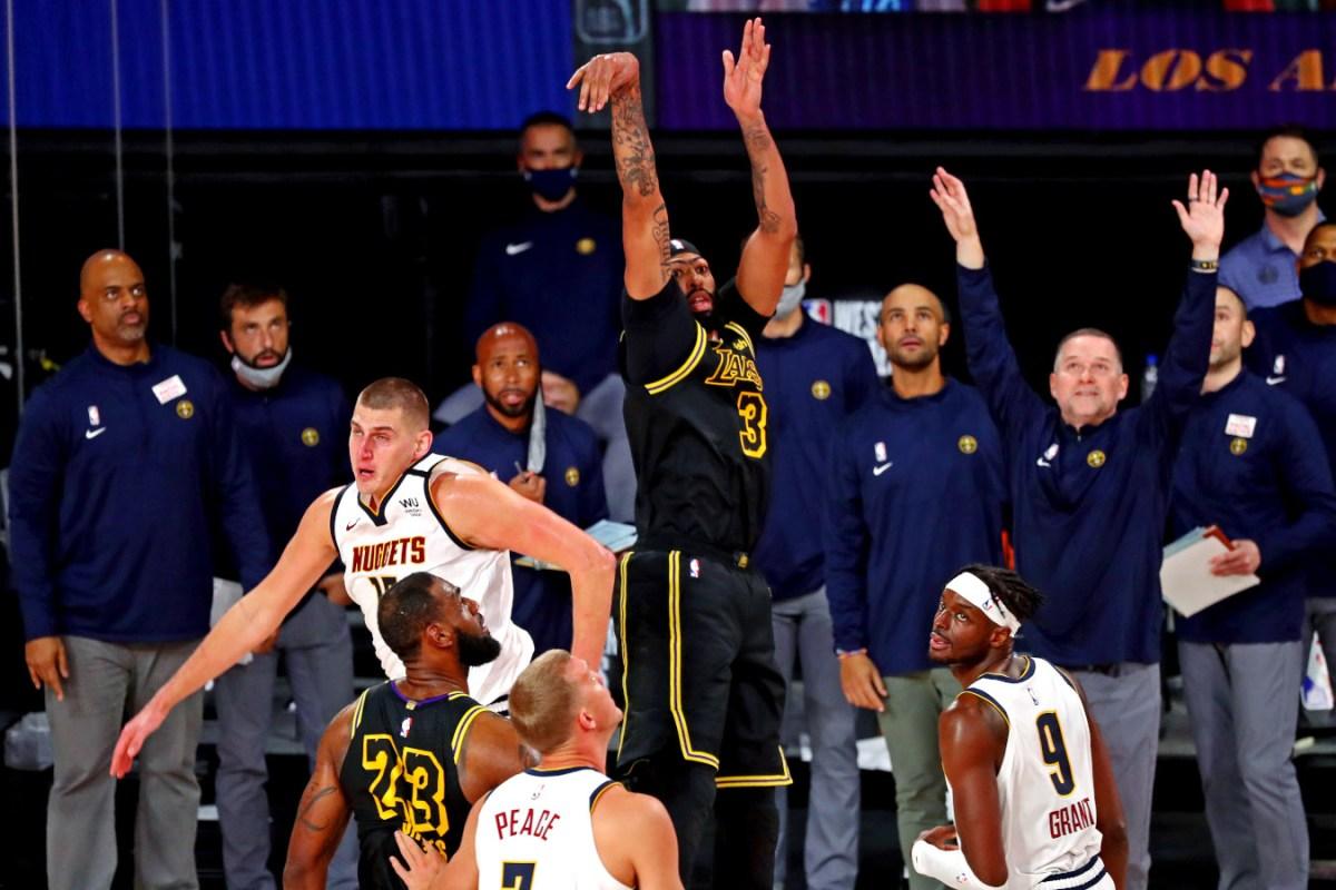 Anthony Davis winning 3-pointer vs. Nuggets