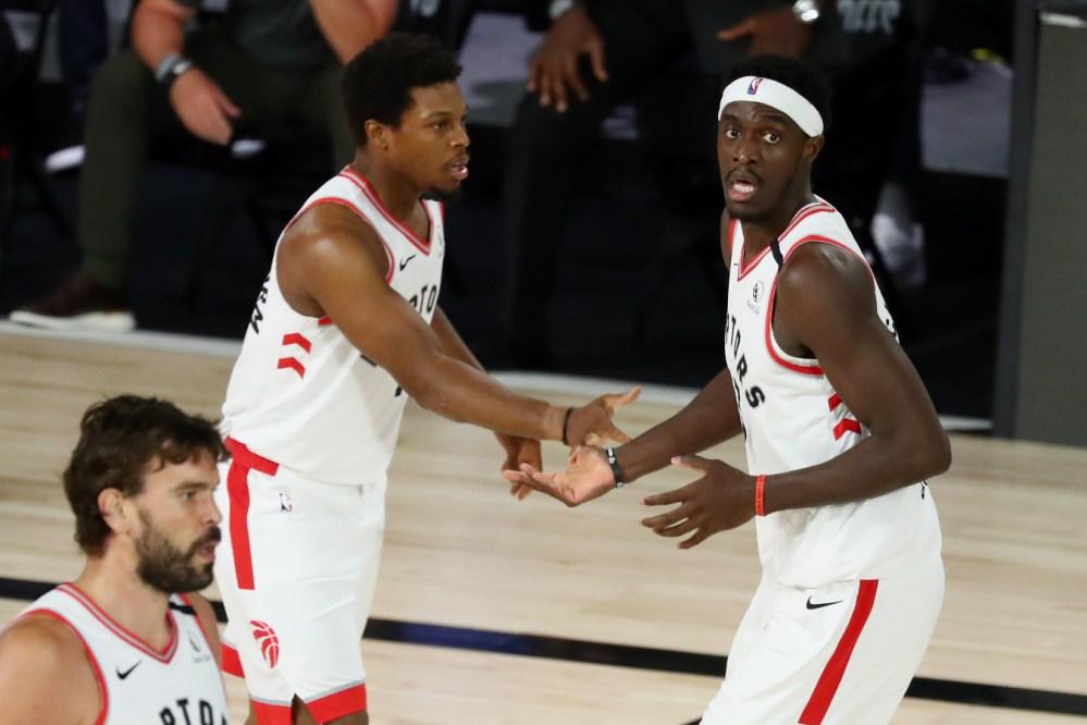 Pascal Siakam and Kyle Lowry, Toronto Raptors