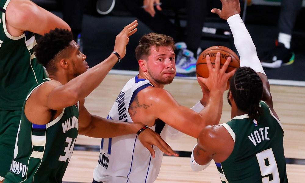 Doncic Antetokounmpo All-NBA Teams International Players Record