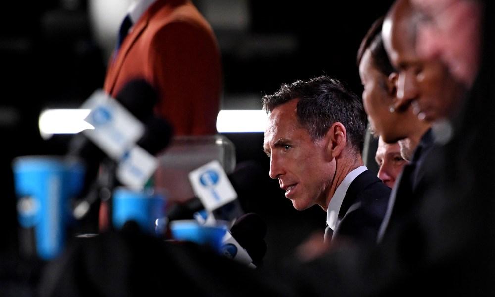 Steve Nash Head Coach Brookyn Nets Kevin Durant Kyrie Irving