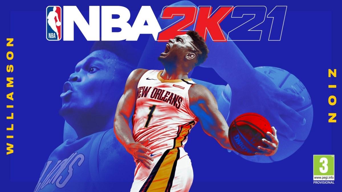 NBA2K21 cover, Zion Williamson