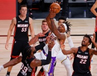 Lakers outrebounding Heat at historic rate in NBA Finals