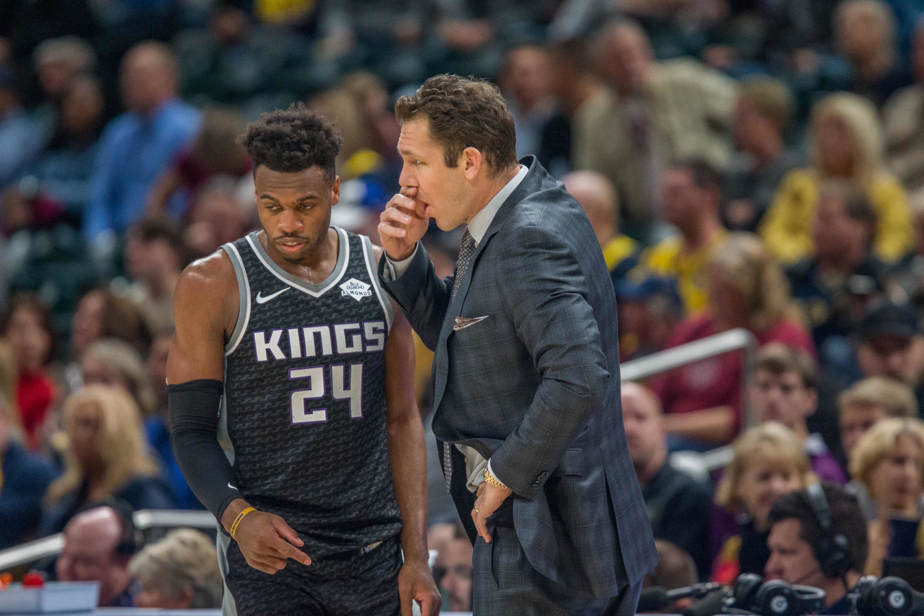 Buddy Hield and Luke Walton, Sacramento Kings