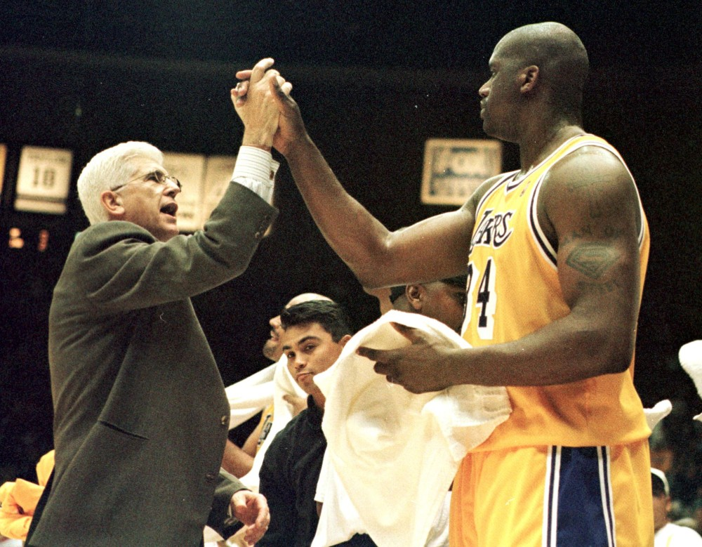 Del Harris and Shaquille O'Neal