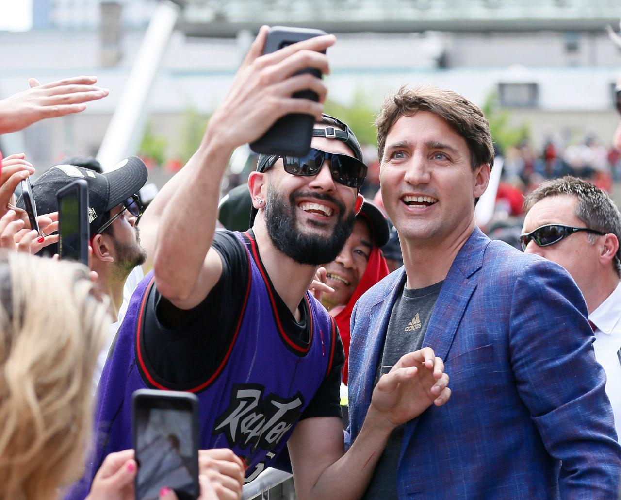 Justin Trudeau, Toronto Raptors parade
