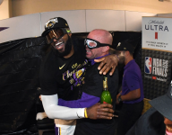 NBA Finals: Locker room celebrations through the years