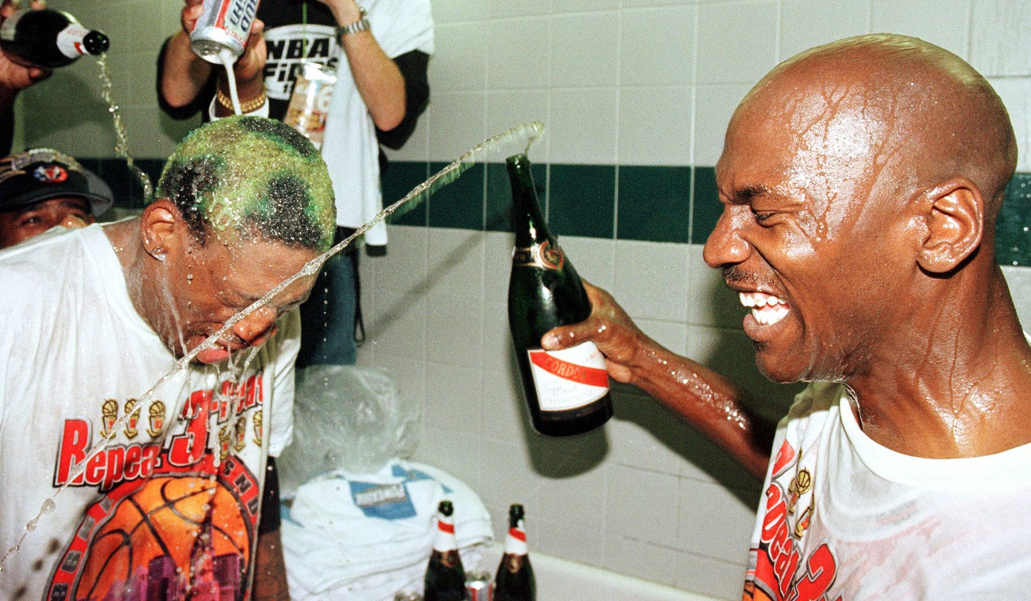 Michael Jordan and Dennis Rodman, 1998