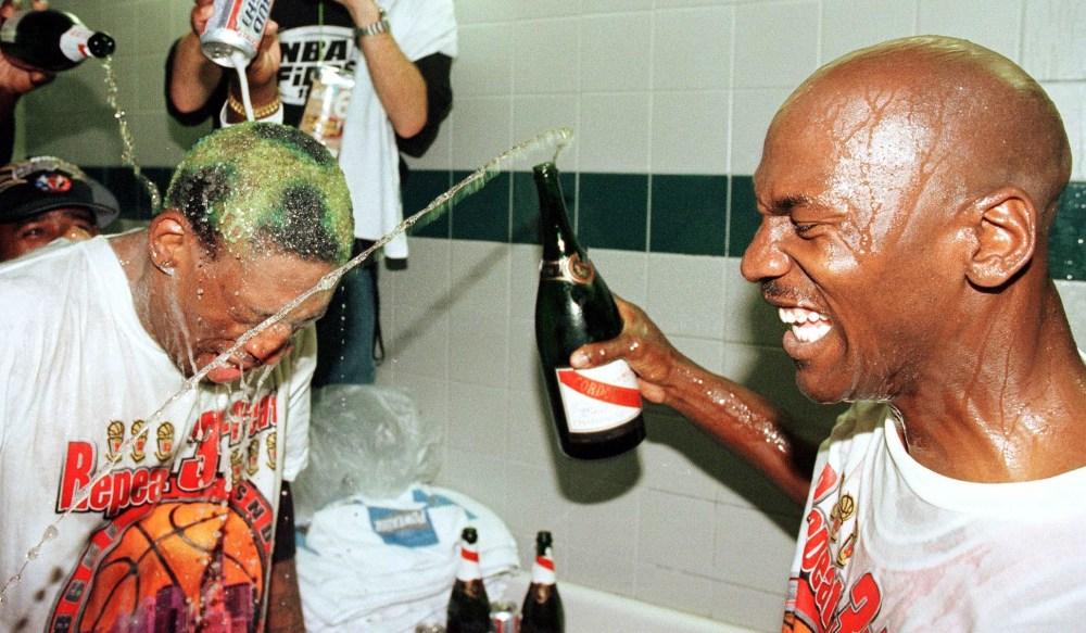 Michael Jordan and Dennis Rodman, 1998