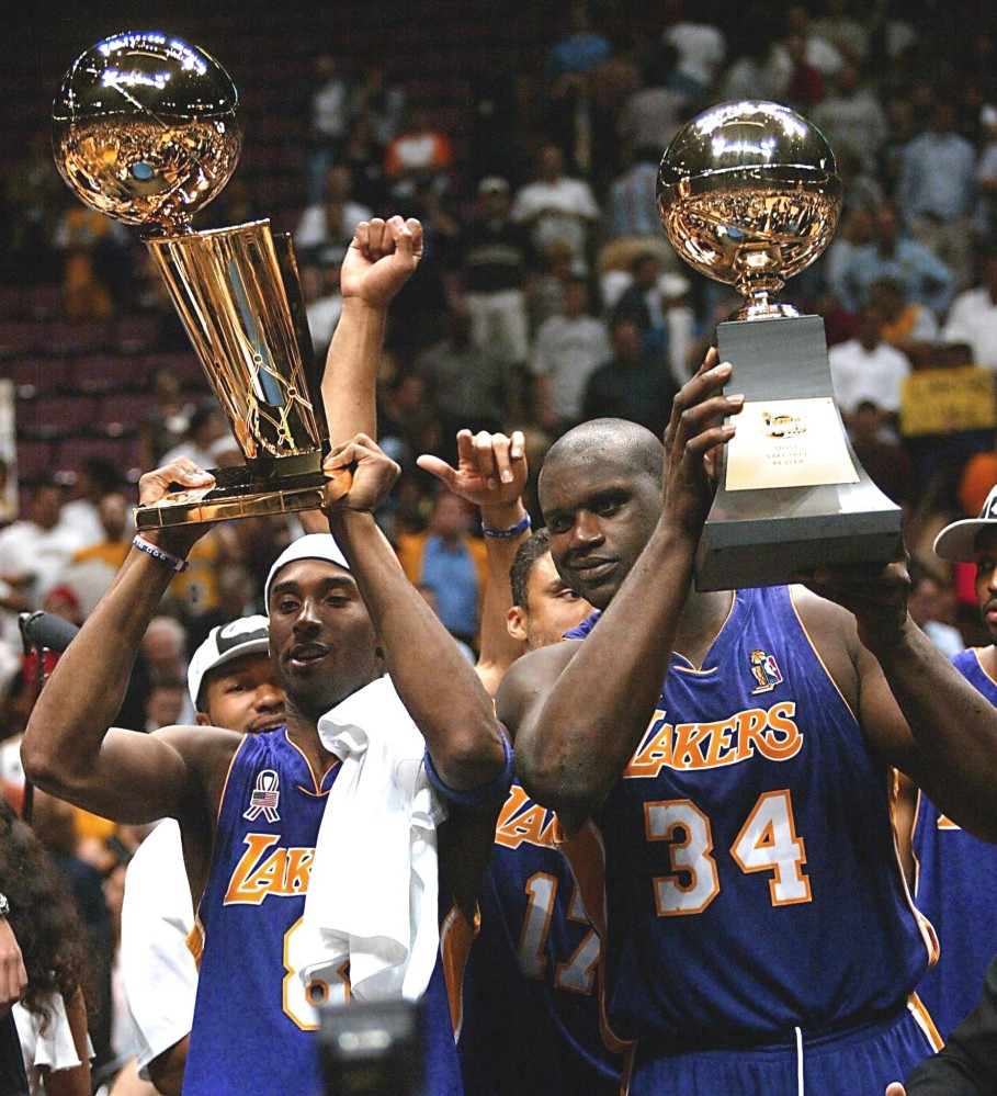 Kobe Bryant and Shaquille O'Neal, 2002
