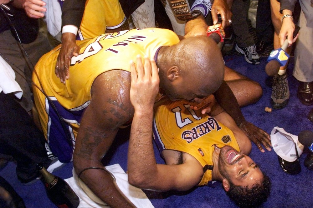 Shaquille O'Neal and Rick Fox