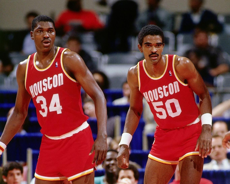 Hakeem Olajuwon and Ralph Sampson