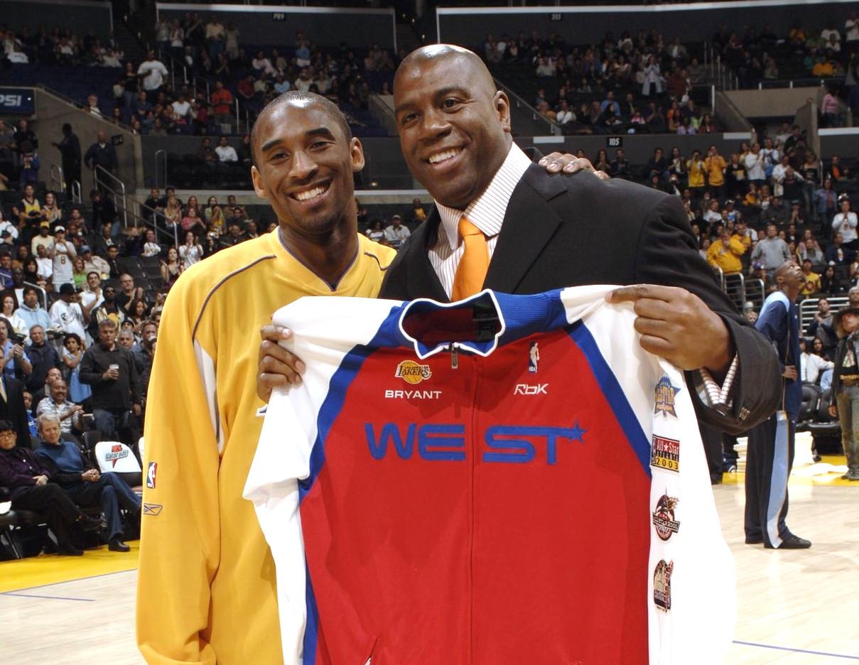 Magic Johnson and Kobe Bryant