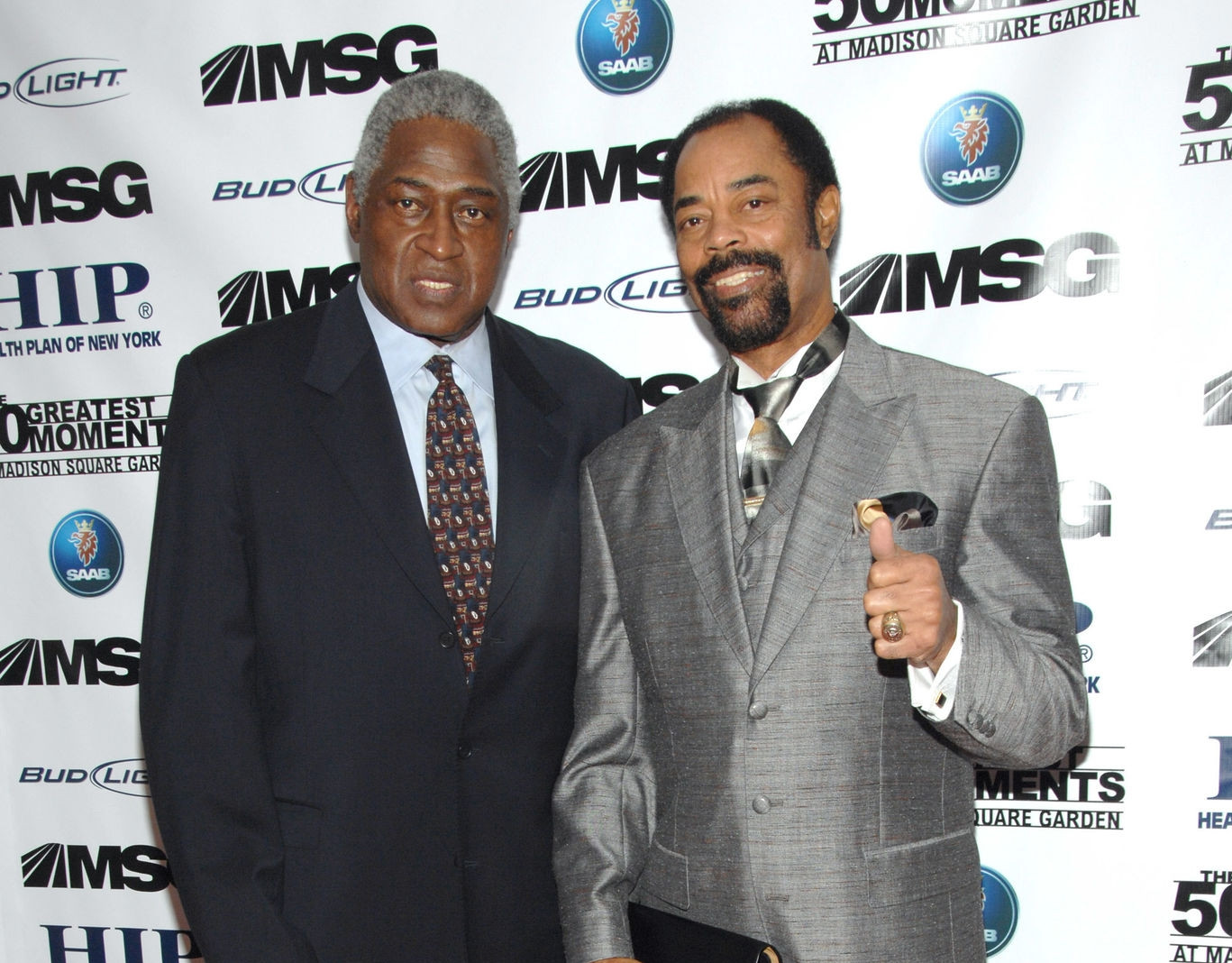 Willis Reed and Walt Frazier