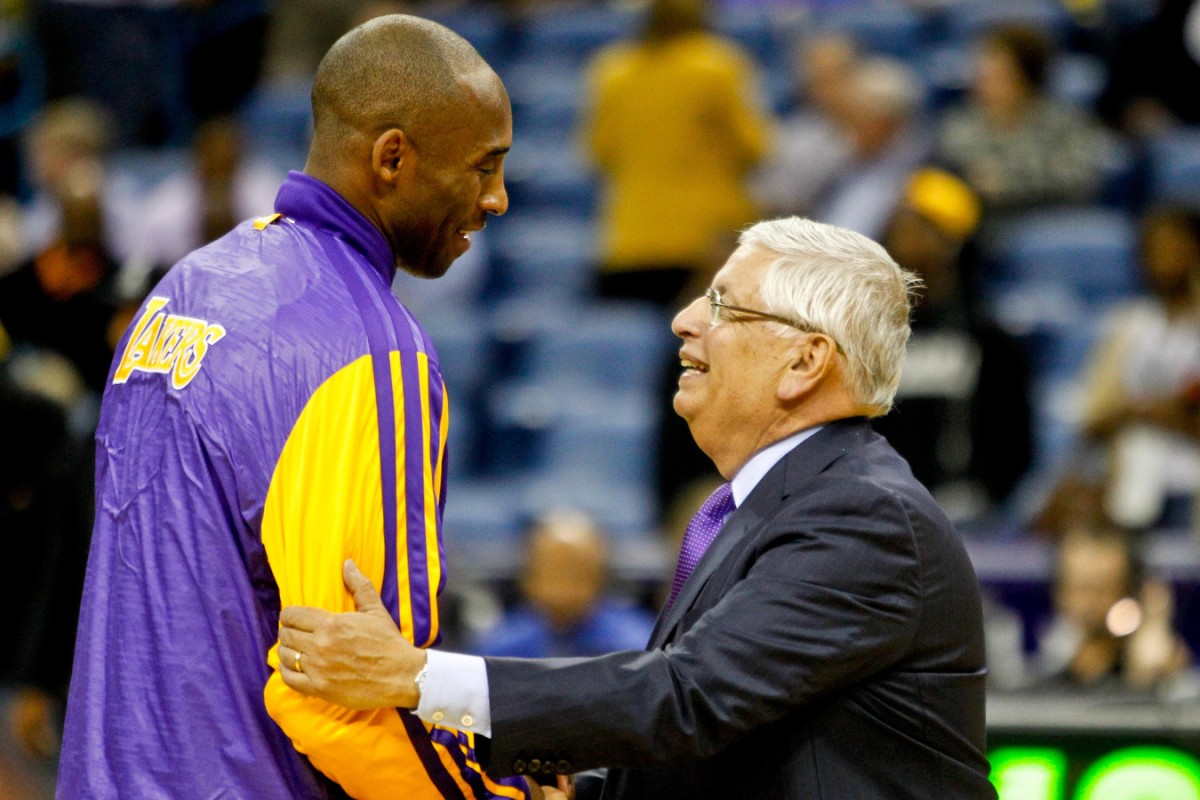 David Stern and Kobe Bryant