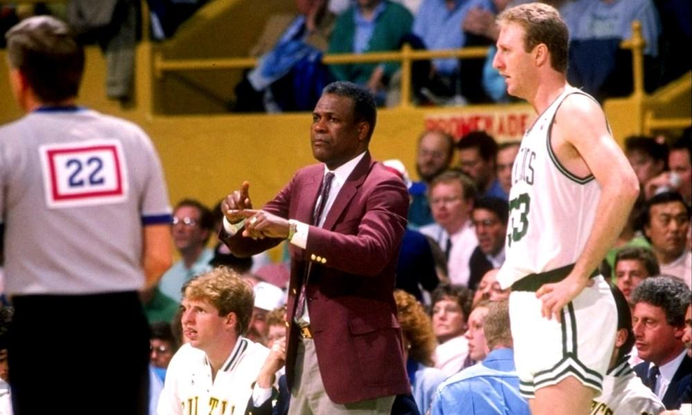 KC Jones and Larry Bird