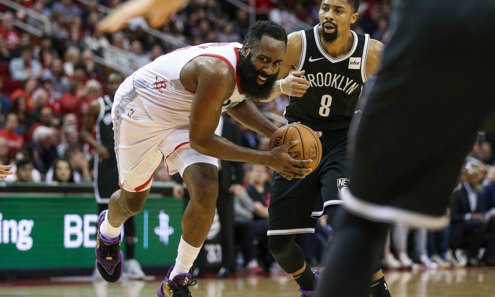 NBA James Harden trade rumors Rockets Nets LeVert Dinwiddie