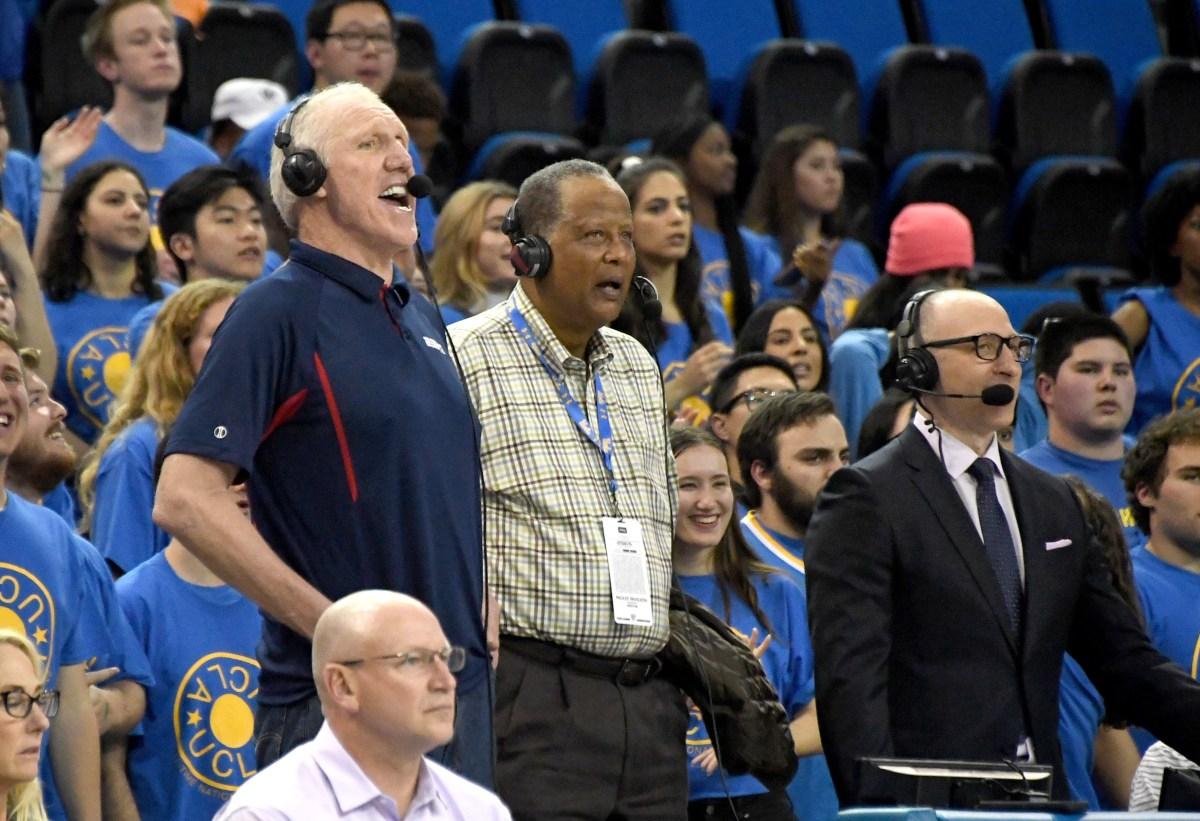 Bill Walton, Jamaal Wilkes and Jeff Van Gundy