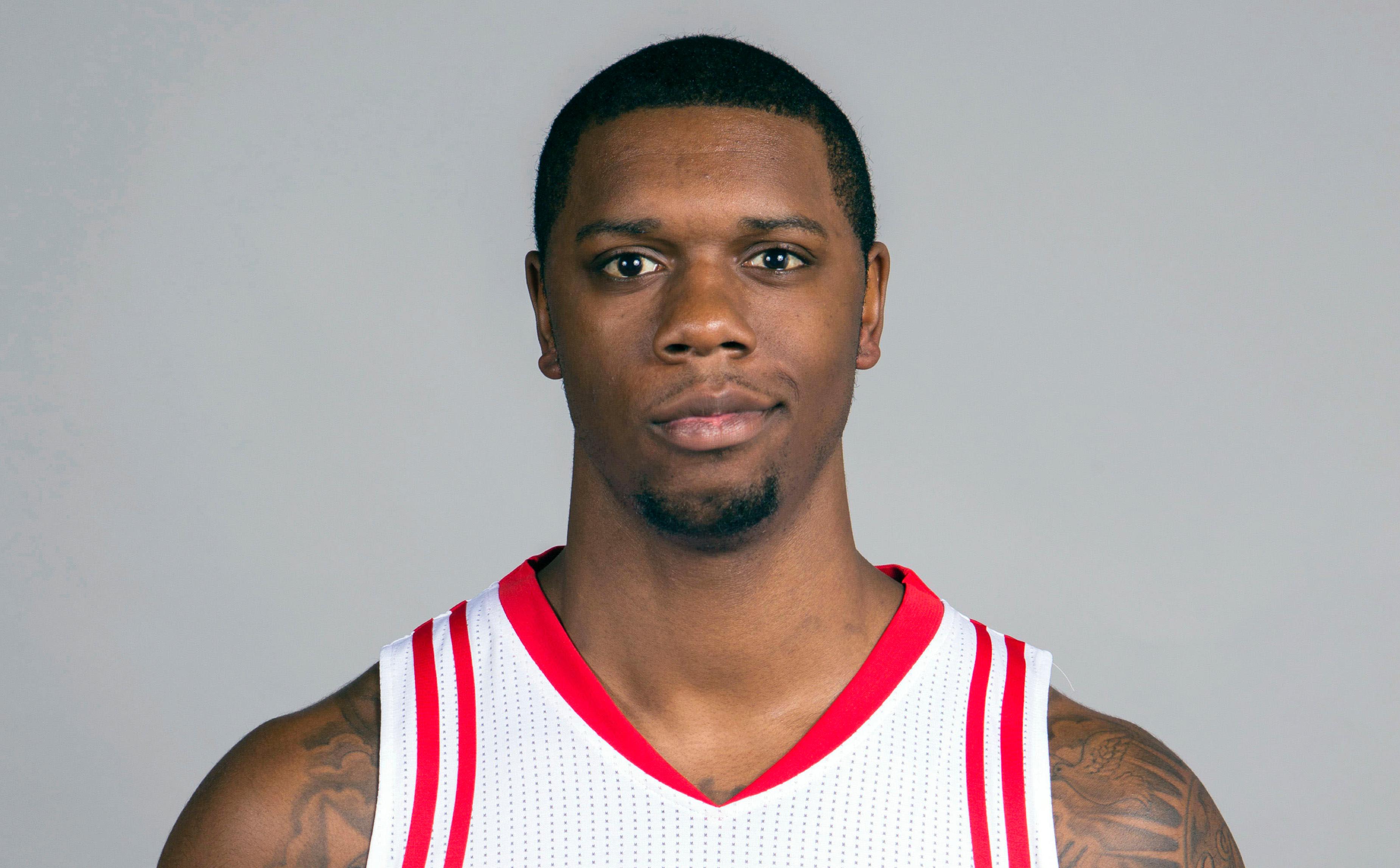 Sep 28, 2015; Houston, TX, USA; Houston Rockets forward Terrence Jones (6) during media day at Toyota Center. Mandatory Credit: