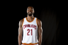 CLEVELAND, OH - SEPTEMBER 26: Cory Jefferson #21 of the Cleveland Cavaliers poses during media day at Cleveland Clinic Courts on September 26, 2016 in Cleveland, Ohio.