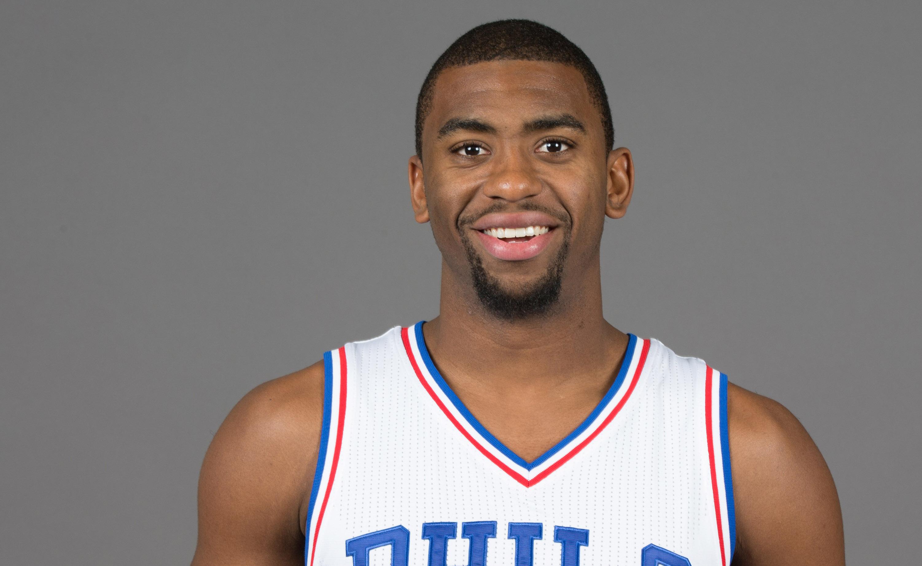 Sep 26, 2016; Philadelphia, PA, USA; Philadelphia 76ers guard Hollis Thompson (31) during media day at the Philadelphia 76ers Training Complex.