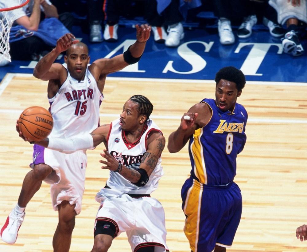 Allen Iverson, Vince Carter and Kobe Bryant
