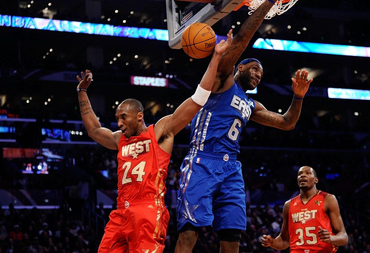 Kobe Bryant dunks on LeBron James, All-Star Game