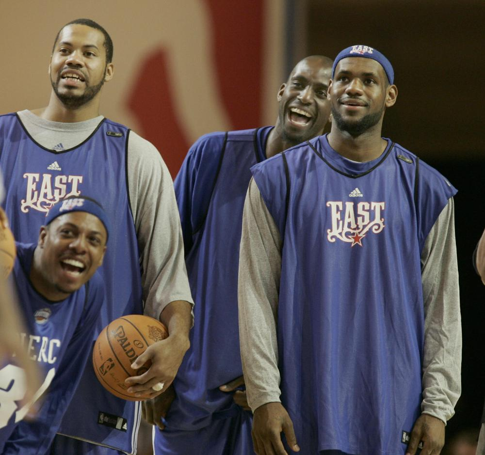 LeBron James and Kevin Garnett, All-Star 2008