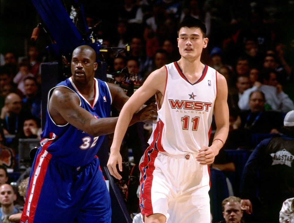 Shaquille O'Neal and Yao Ming
