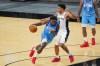 Jan 16, 2021; San Antonio, Texas, USA; Houston Rockets forward Jae'Sean Tate (8) drives past San Antonio Spurs forward Keldon Johnson (3) in the second half at the AT&T Center.