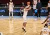 Jan 16, 2021; Brooklyn, New York, USA; Orlando Magic center Nikola Vucevic (9) takes a three point shot in the third quarter against the Brooklyn Nets at Barclays Center. Mandatory Credit: