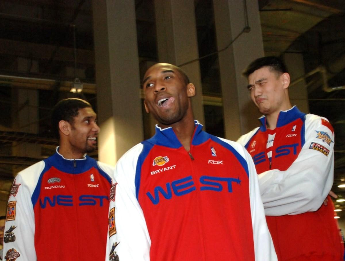 Tim Duncan, Kobe Bryant and Yao Ming