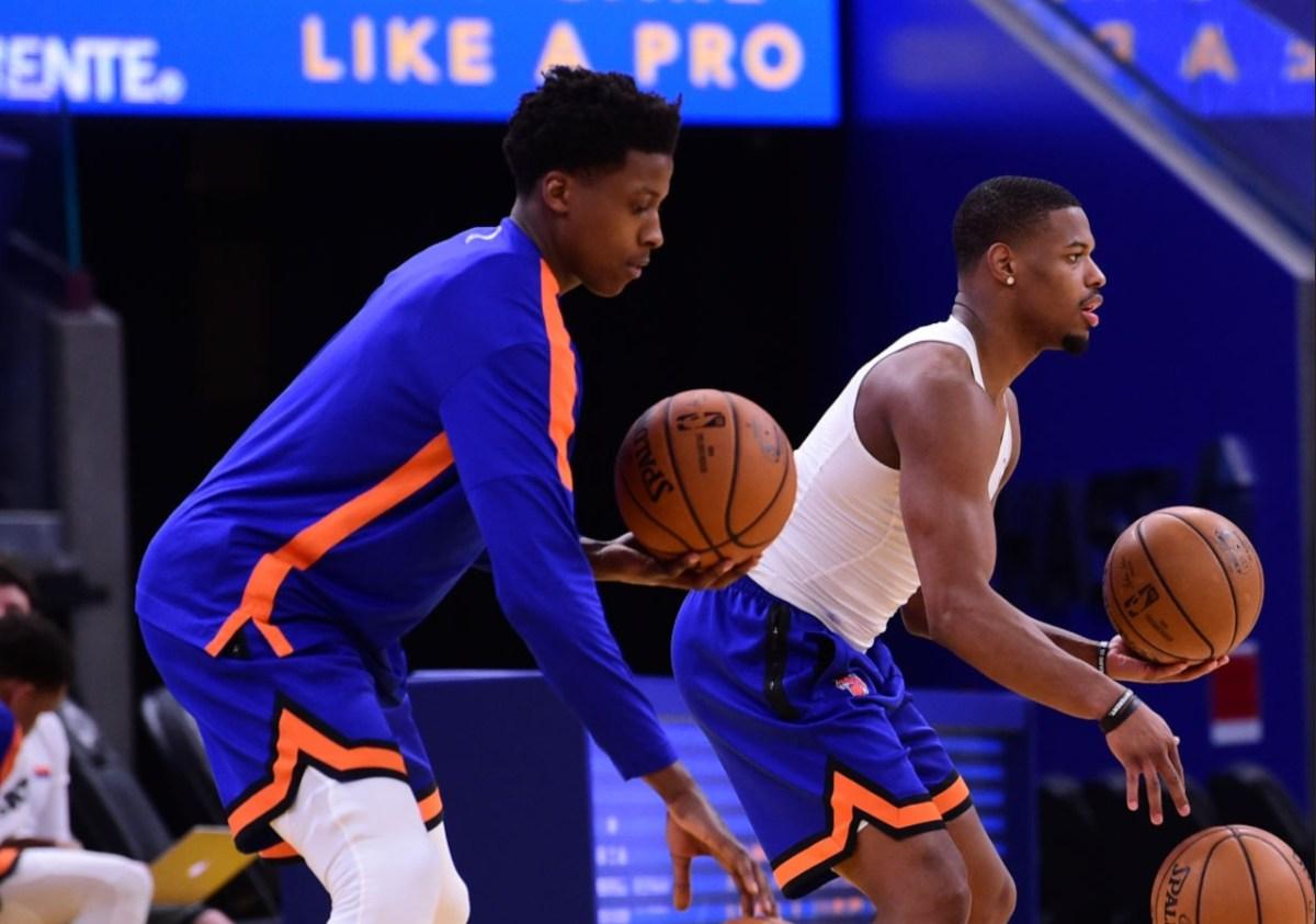 Frank Ntilikina and Dennis Smith, New York Knicks
