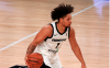 LAKE BUENA VISTA, FLORIDA - FEBRUARY 18: Daishen Nix #1 of the G League Ignite brings the ball up the floor during a G-League game against the Westchester Knicks at AdventHealth Arena at ESPN Wide World Of Sports Complex on February 18, 2021 in Lake Buena Vista, Florida.