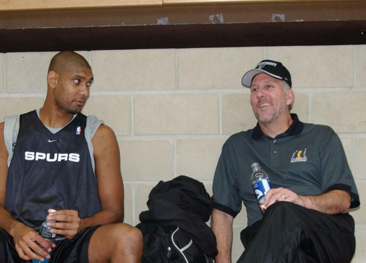 Tim Duncan and Gregg Popovich, Spurs