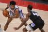 Feb 26, 2021; Detroit, Michigan, USA; Detroit Pistons forward Saddiq Bey (41) looks to pass the ball as Sacramento Kings forward Harrison Barnes (40) defends during the first quarter at Little Caesars Arena.
