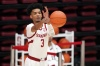 Feb 27, 2021; Stanford, California, USA; Stanford Cardinal forward Ziaire Williams (3) passes the ball during the second half against the Oregon State Beavers at Maples Pavilion.
