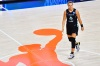 PALMETTO, FLORIDA - JULY 29: Sabrina Ionescu #20 of the New York Liberty walks across the court during the second half of a game against the Dallas Wings at Feld Entertainment Center on July 29, 2020 in Palmetto, Florida. NOTE TO USER: User expressly acknowledges and agrees that, by downloading and or using this photograph, User is consenting to the terms and conditions of the Getty Images License Agreement.