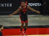 Houston Rockets forward Jae'Sean Tate (8) reacts after making a basket against the Phoenix Suns to tie the game during the fourth quarter of an NBA basketball game in Houston, Monday, April 5, 2021.