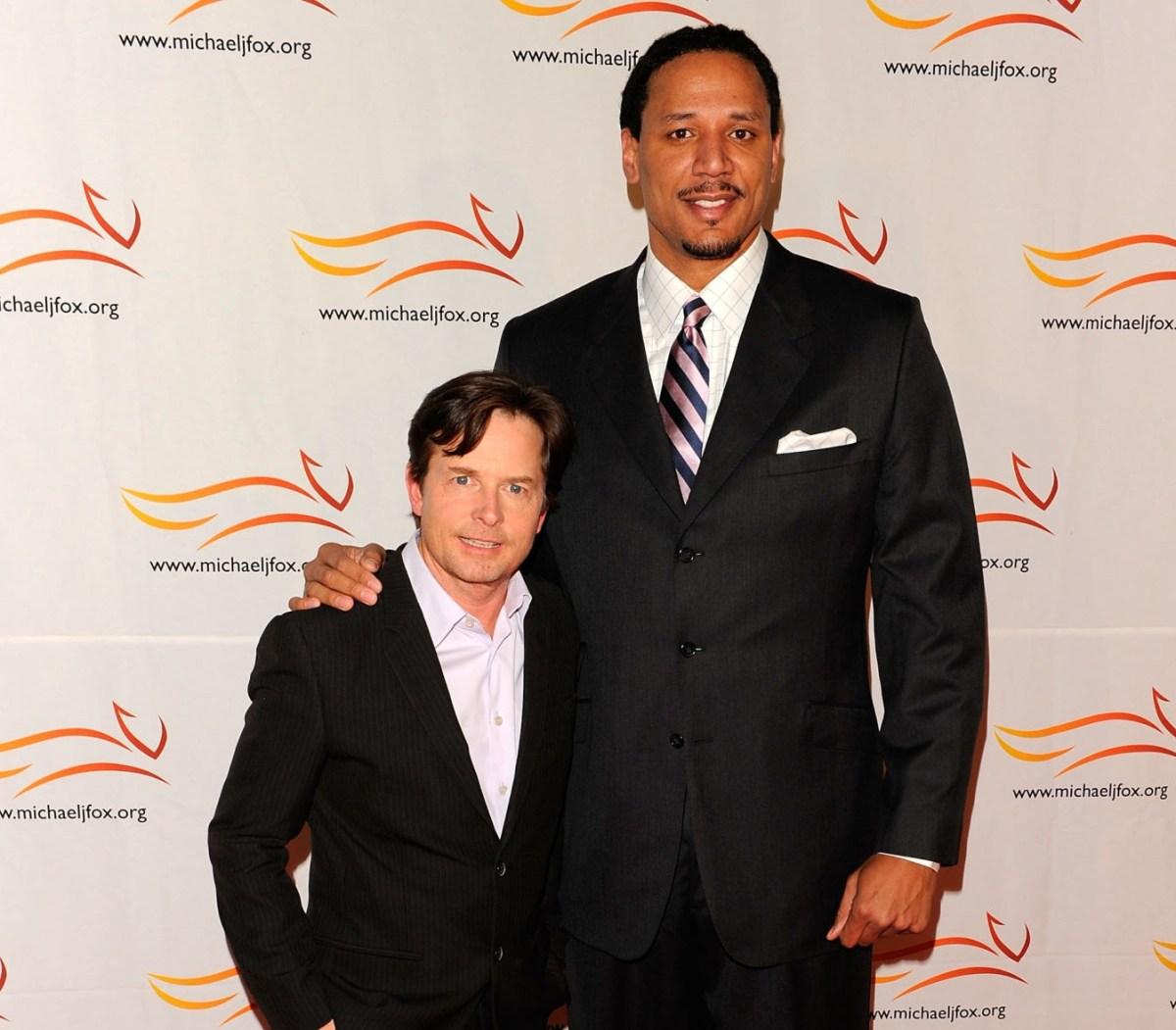 Michael J. Fox and Brian Grant