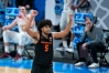 Oregon State guard Ethan Thompson celebrates during the second half of a Sweet 16 game against Loyola Chicago in the NCAA men's college basketball tournament at Bankers Life Fieldhouse, Saturday, March 27, 2021, in Indianapolis.