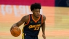 Golden State Warriors center James Wiseman (33) against the Philadelphia 76ers during an NBA basketball game in San Francisco, Tuesday, March 23, 2021.