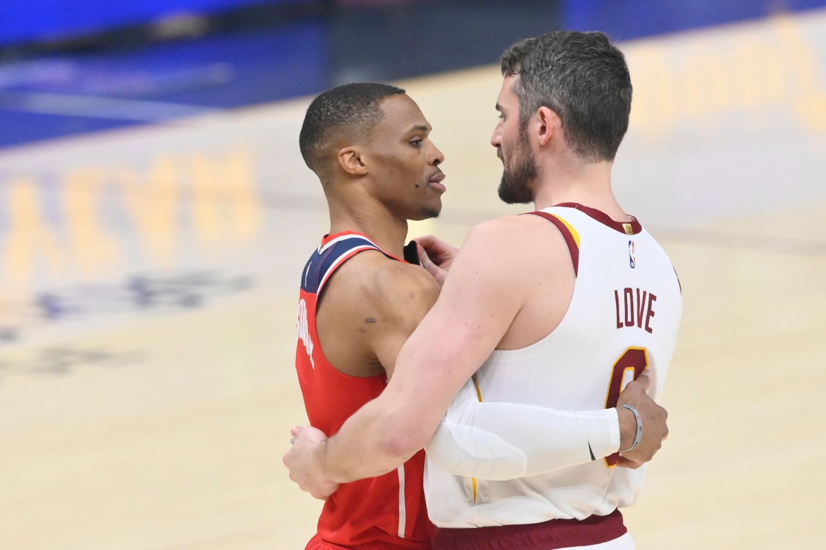 Russell Westbrook and Kevin Love