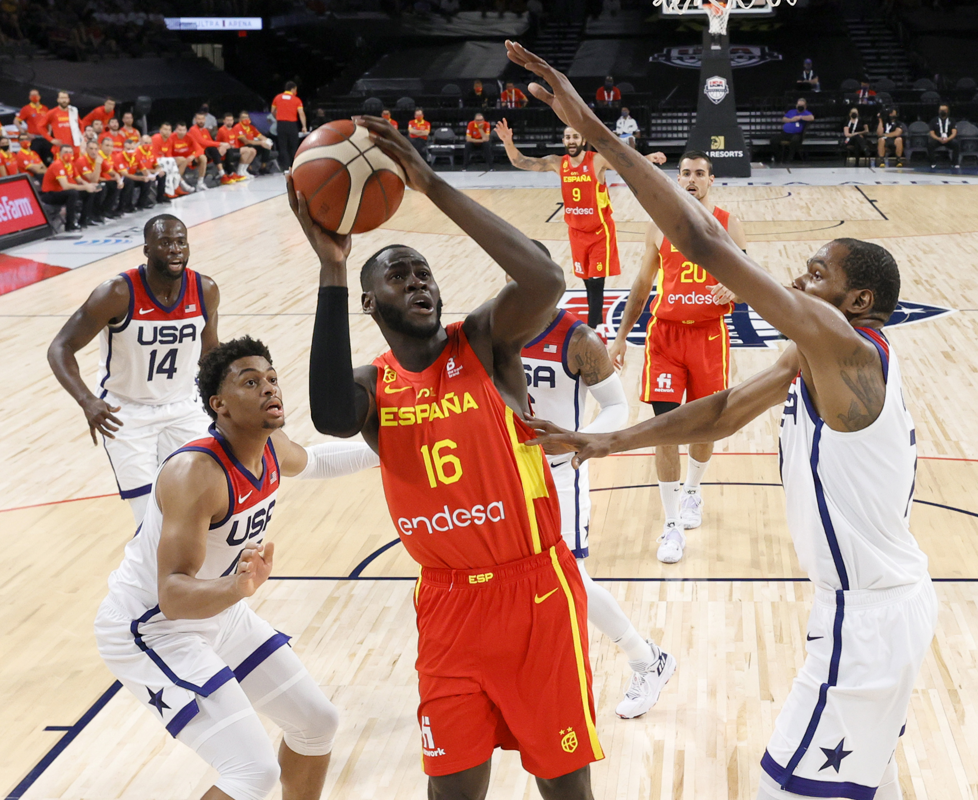 Real Madrid has more players than any other team at the Olympic basketball tournament